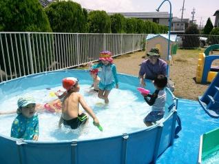 Pool fun on our large yard!