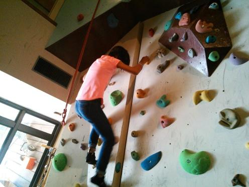 Wall climbing!