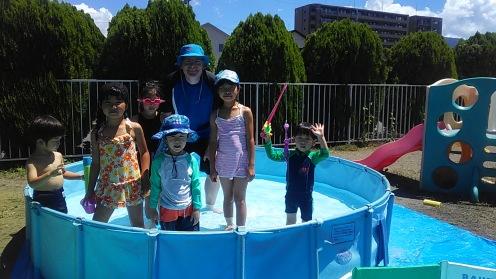 Hi ! We're in the pool!
